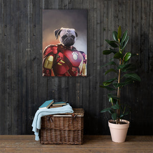Good Boy Art - Iron Man Customized Pet Superhero Canvas