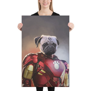Good Boy Art - Iron Man Custom Dog and Cat Superhero Portrait