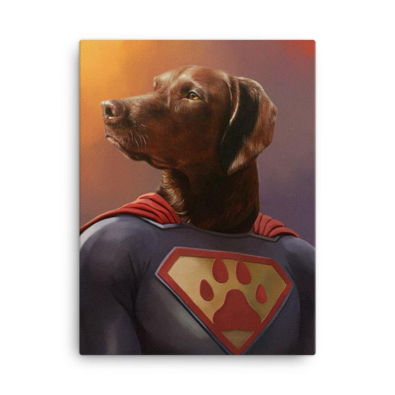 Good Boy Art - Superman Custom Dog and Cat Superhero Portrait