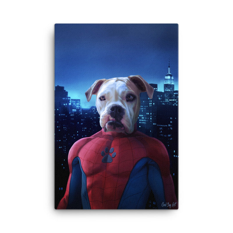 Good Boy Art - Spider-Man Custom Pet Superhero Portrait