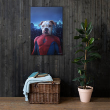 Load image into Gallery viewer, Good Boy Art - Spiderman Customized Pet Superhero Canvas