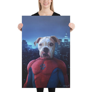 Good Boy Art - Spider man Custom Dog and Cat Superhero Portrait