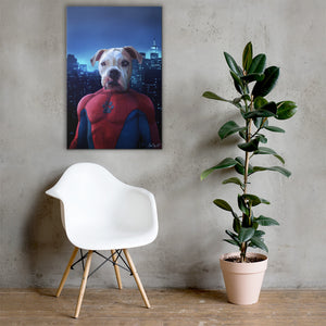 Good Boy Art - Spider-man Personalized Dog and Cat Superhero Painting
