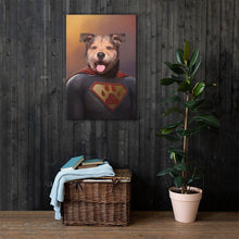 Load image into Gallery viewer, Good Boy Art - Superman Customized Pet Superhero Canvas