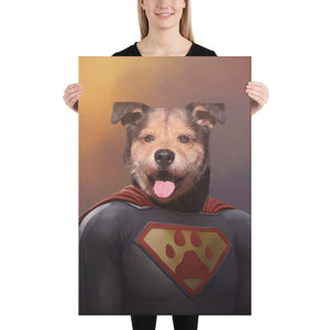 Good Boy Art - Superman Personalized Dog and Cat Superhero Painting