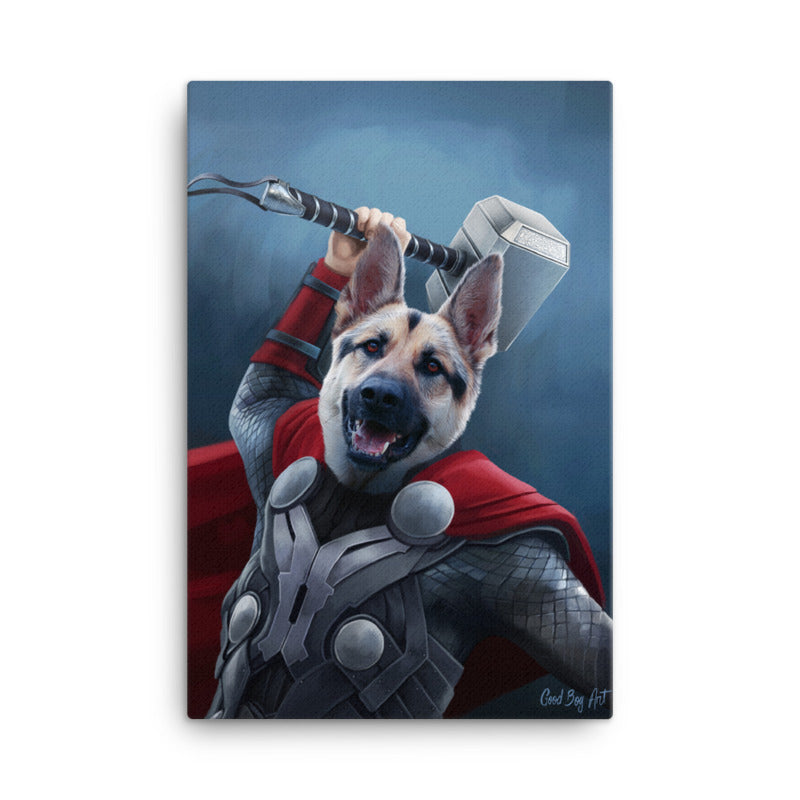 Good Boy Art - Thor Custom Pet Superhero Portrait
