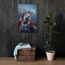 Load image into Gallery viewer, Good Boy Art - Thor Customized Pet Superhero Canvas