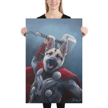 Load image into Gallery viewer, Good Boy Art - Thor Custom Dog and Cat Superhero Portrait