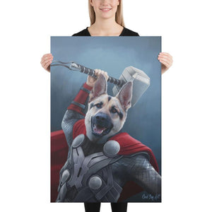 Good Boy Art - Thor Custom Dog and Cat Superhero Portrait