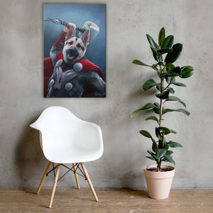 Good Boy Art - Thor Personalized Dog and Cat Superhero Painting