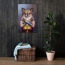 Load image into Gallery viewer, Good Boy Art - Wonder Woman Customized Pet Superhero Canvas