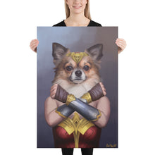 Load image into Gallery viewer, Good Boy Art - Wonder Woman Custom Dog and Cat Superhero Portrait