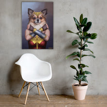 Load image into Gallery viewer, Good Boy Art - Wonder Woman Personalized Dog and Cat Superhero Painting