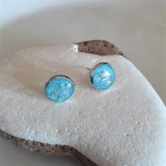 Aquamarine ear studs