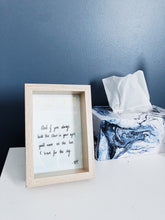 Load image into Gallery viewer, stars poem watercolour painting on bedside table