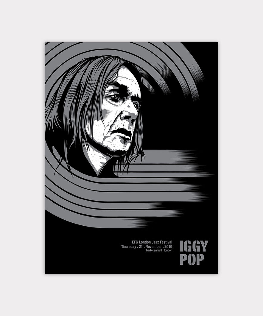 Iggy Pop - Free at the Barbican Screen Print