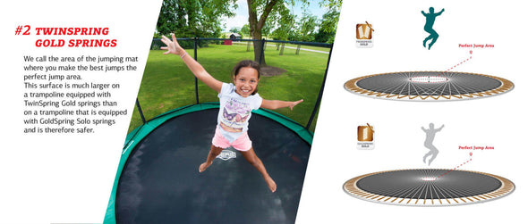 Berg Champion Deluxe Above Ground 11FT Trampoline