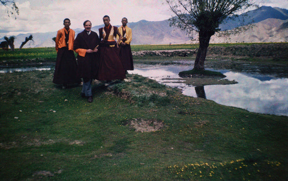 James Guthrie with Tibetan monks