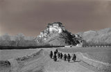 Potala from the east with nomads on path