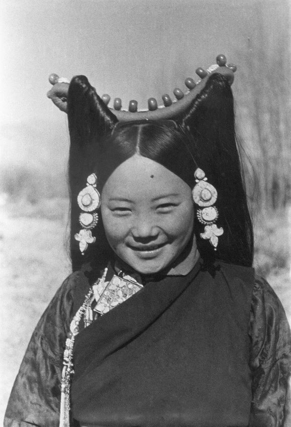 Woman at Dekyi Lingka party, New Year 1937