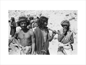 Portrait of three Sa'ar Bedouin ...