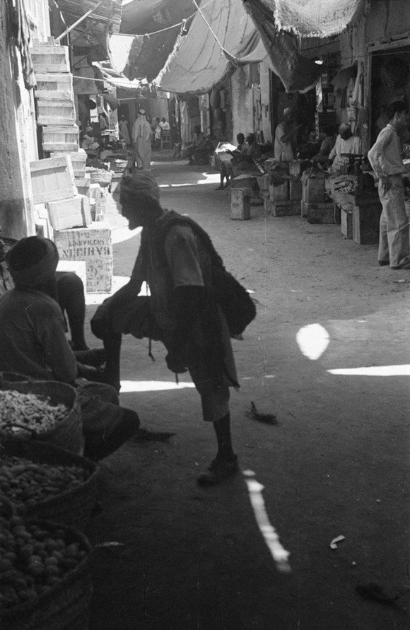View of a market (suq) ...