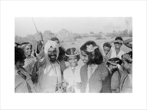 Group portrait of Arab men ...