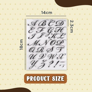 Cake Alphabet Stamp Set