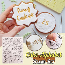 Load image into Gallery viewer, Cake Alphabet Stamp Set