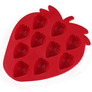 Silicone Strawberry Ice Cube Mold
