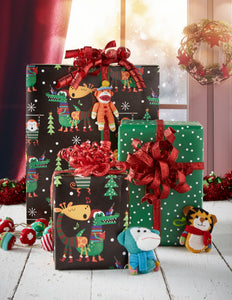 Jungle Carols Reversible Roll Wrap