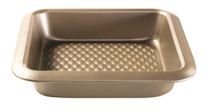 Gold Textured Square Bake Pan