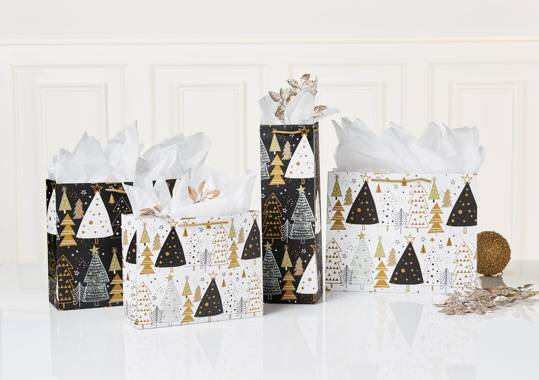 MERRY TREES GIFT BAGS (SET OF 4)