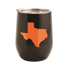 Load image into Gallery viewer, BLACK WITH ORANGE TEXAS 12 OZ TUMBLER
