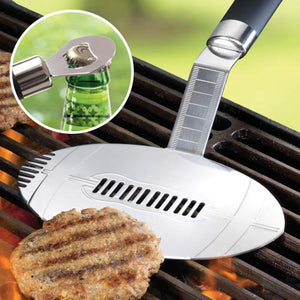 BBQ FOOTBALL SPATULA & BOTTLE OPENER