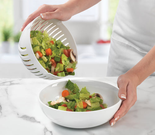 SALAD MAKER STRAINER SERVER