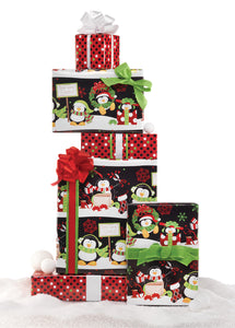 Festive Penguin Jumbo Reversible Roll Wrap