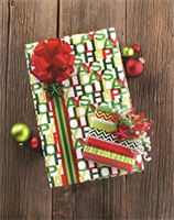 Christmas Brights Jumbo Reversible Roll Wrap