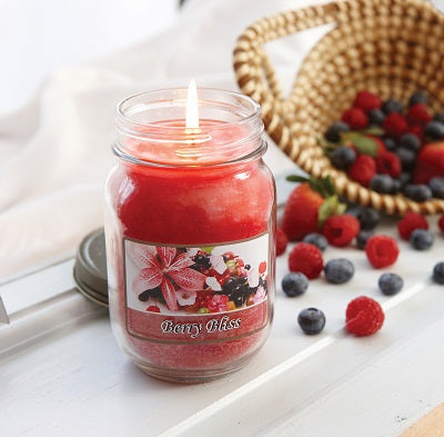 Berry Bliss Mason Jar Candle