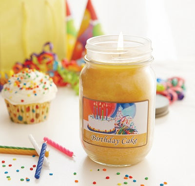 Birthday Cake Mason Jar Candle