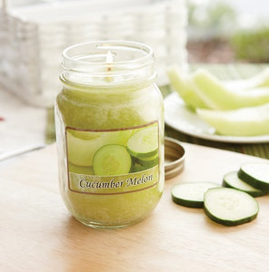 Cucumber Melon Mason Jar Candle