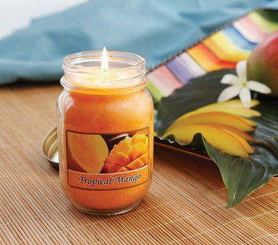 Tropical Mango Mason Jar Candle