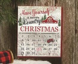 Country Christmas Countdown Calendar