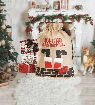 Santa Pants Draw String Delivery Sack