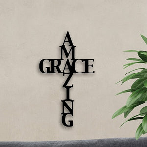Amazing Grace Wood Cross