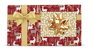 HOLIDAY WONDERLAND/WOODLAND BERRIES REVERSIBLE JUMBO WRAP