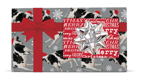 Christmas Cows/Merry Christmas Text Reversible Jumbo Wrap