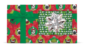 Paw Christmas/Text Reversible Jumbo Wrap