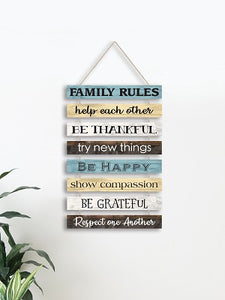 "Family Rules ""Home Decor"""