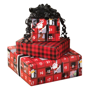 Christmas Countdown Jumbo Reversible Roll Wrap
